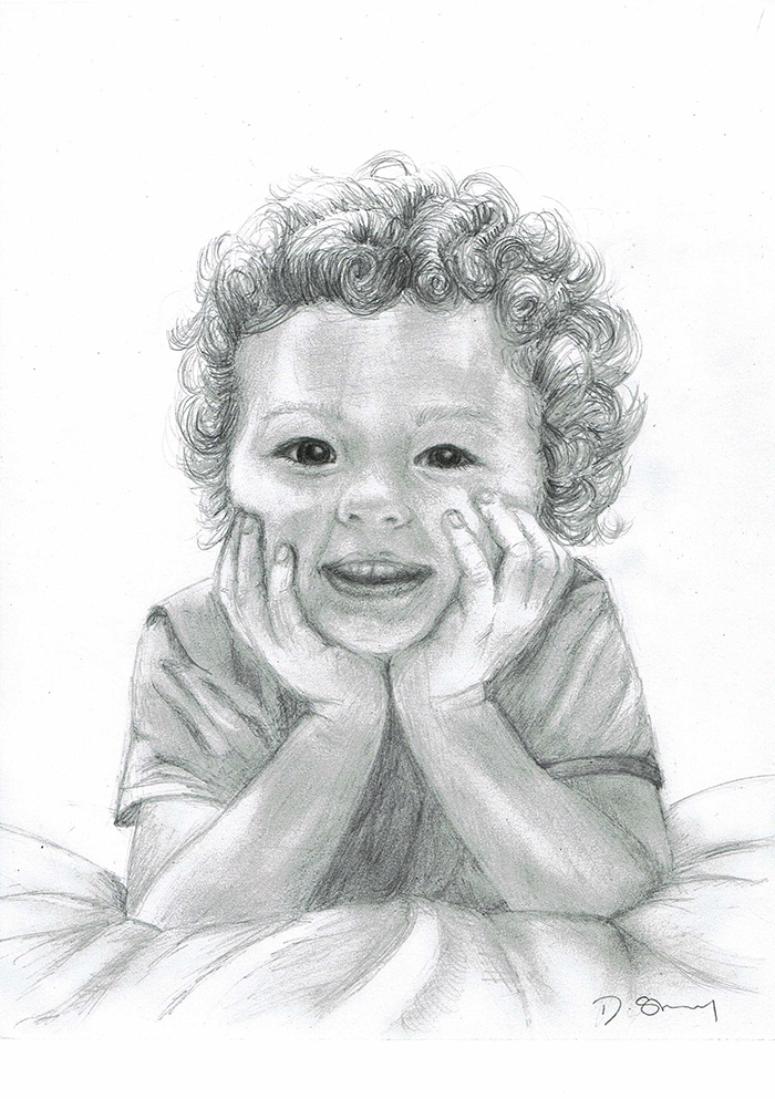 Pencil picture of young boy