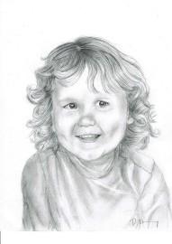Pencil sketch of young boy