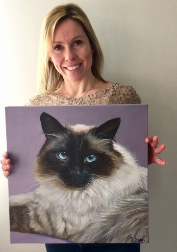 Debbie with cat portrait